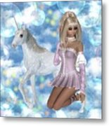 Bubbly Blonde Metal Print