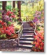 Buchart Garden Stairway Metal Print