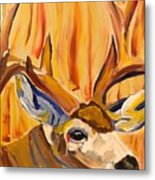 Buck In Fiery Sunset Metal Print