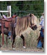 Buckaroo Cowgirl Metal Print