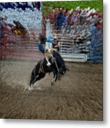 Bucking Bronco Metal Print