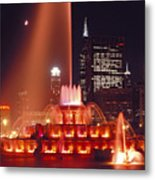 Buckingham Fountain In Chicago 2 Metal Print
