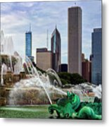 Buckingham Fountain Metal Print