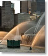 Buckingham Fountain Sidelight  Metal Print