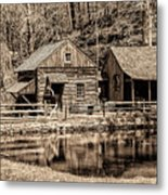 Bucks County - Cuttalossa Mill In Sepia Metal Print