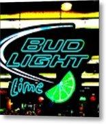 Bud Light Lime Tweeked Metal Print