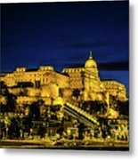 Buda Castle At Night Metal Print