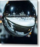 Budapest Globe - City Park Ice Rink Metal Print