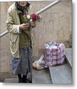 Budapest Flower Woman Metal Print