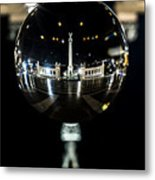 Budapest Globe - Heroes' Square Metal Print