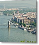 Budapest Panorama Photo Metal Print