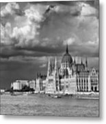 Budapest Parliament From The Chain Bridge Metal Print