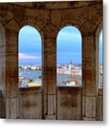 Budapest Parliament From The Fishermans Bastion Metal Print
