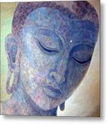 Buddha Alive In Stone Metal Print