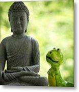 Buddha And Buddy Metal Print