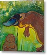 Buddha And The Divine Platypus No. 1375 Metal Print