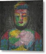 Buddha Encaustic Painting Metal Print
