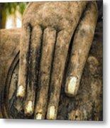 Buddha Hand Metal Print by Adrian Evans