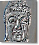 Buddha Head 3 Metal Print
