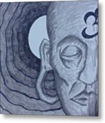 Buddha In Ink Metal Print