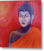 Buddha In Red Metal Print
