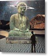 Buddha In Saturn Metal Print