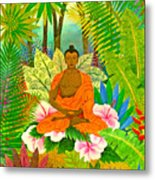 Buddha In The Jungle Metal Print