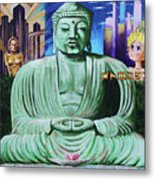 Buddha In The Metropolis Metal Print