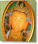 Buddha Mirror Metal Print