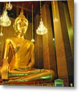 Buddha Statue Metal Print by Somchai Suppalertporn