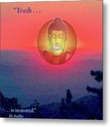 Buddha Sunset Metal Print