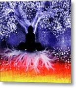 Buddha Under The Wisdom Tree Metal Print
