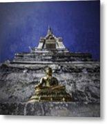 Buddha Watching Over Metal Print