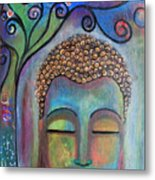 Buddha With Tree Of Life Metal Print