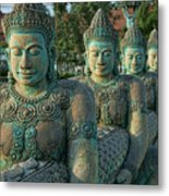 Buddhas All In A Row Metal Print