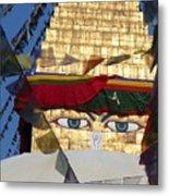 Buddha's  Eyes Metal Print