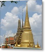 Buddhist Chedi - Bangkok Metal Print