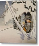 Buddhist Cleric Nichiren In Exile And Homage To Yoshitoshi Metal Print
