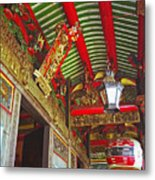 Nord Hoi Temple Ceiling Metal Print