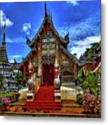 Buddhist Temples In Chiang Mai Metal Print