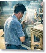 Buddhist Way Of Praying Metal Print