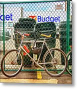 Budget Bicycle Metal Print
