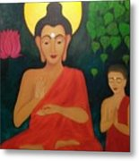 Budha Blessing Metal Print