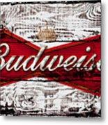 Budweiser Wood Art 5a Metal Print