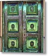 Buenos Aires Church Crypt Door Metal Print