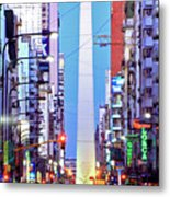 Buenos Aires Obelisk Metal Print