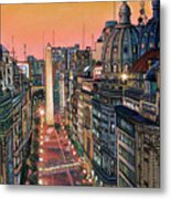 Buenos Aires Twilight Metal Print