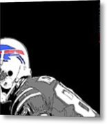 Buffalo Bills Football Team And Original Typography Metal Print