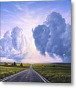 Buffalo Crossing Metal Print by Jerry LoFaro