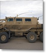 Buffalo Mine Protected Vehicle Metal Print by Terry Moore